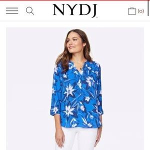 Not your daughters jeans NYDJblue floral blouse A